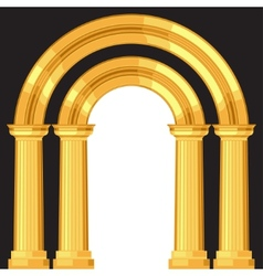 Doric realistic antique greek arch with columns vector