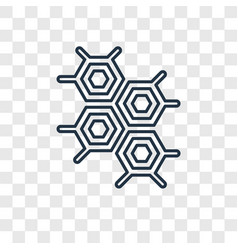 eco cell concept linear icon isolated on vector image
