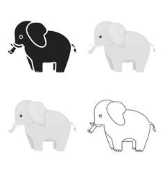 elephant icon cartoon singe animal icon from the vector image