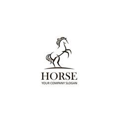 emblem horse vector image