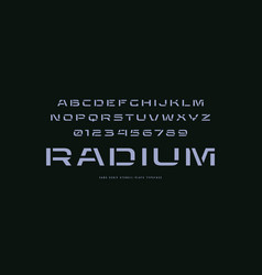 Extended stencil-plate sans serif font vector