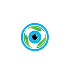 eye care leaf vector image