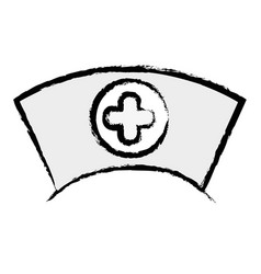 Figure nurse hat element that used in the hospital vector