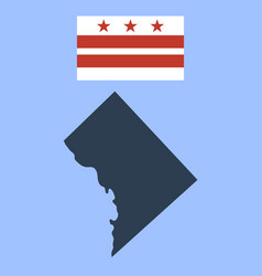 Flag of the district of columbia and map vector
