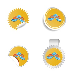 flip flop color vector image
