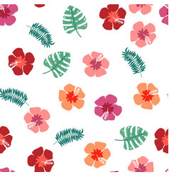 floral paradise tropic seamless pattern with vector image