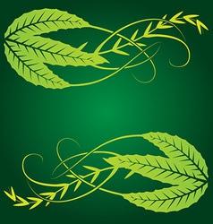 foliage corner graphics vector image