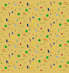 Geometric shapes on beige background and without vector