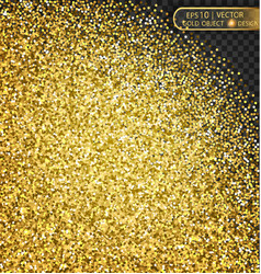 gold sparkles on a transparent background vector image vector image