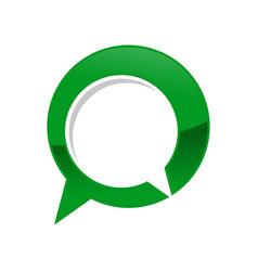 green talk bubble chat forum symbol logo design vector image