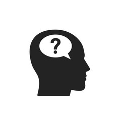 head with question mark icon vector image