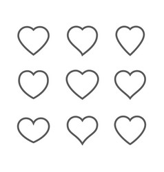 heart icon isolated on white background vector image