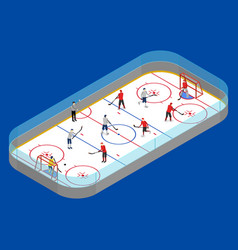 ice hockey arena competition concept 3d isometric vector image