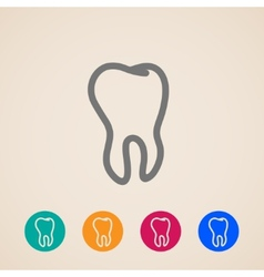 Icons with a tooth vector