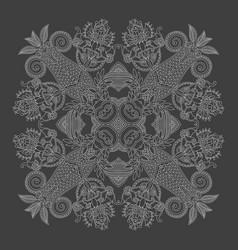 indian paisley bandanna design print you can use vector image