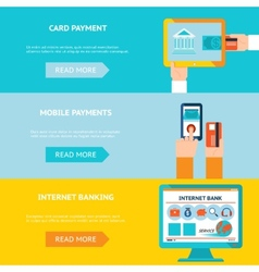 Internet banking and mobile payments vector image