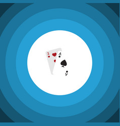 Isolated gambling cards flat icon ace vector