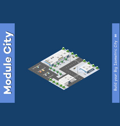 isometric of the modern city vector image
