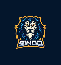 Lion esport gaming mascot logo template for vector