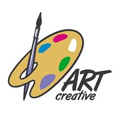 Logo brush and palette for art vector