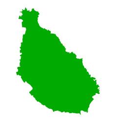 Map of santiago vector