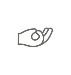 meditation symbol icon spiritual concept vector image
