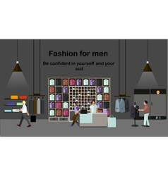 Men fashion concept People shopping in a mall vector image