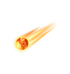 Meteorite apocalypse isolated icon vector