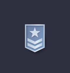 military rank vector image