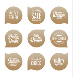 modern sale badges collection 3 vector image