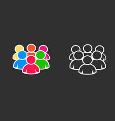people group team icon set vector image