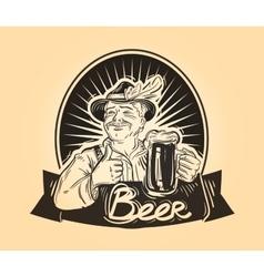Pub brasserie logo design template Drink vector image