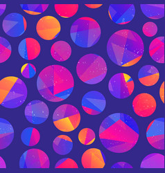 purple circle seamless pattern vector image