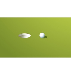 Putting green vector