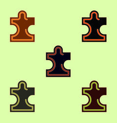 Puzzle piece collection vector