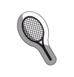 Racket tennis isolated icon vector
