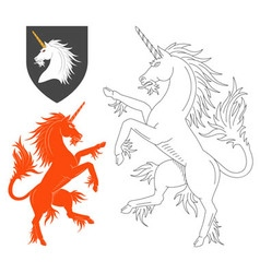 Rampant Unicorn vector