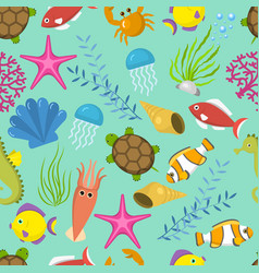 seamless pattern with cute decorative vector image