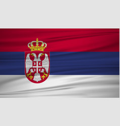 serbia flag flag of serbia blowig in the wind vector image
