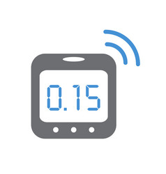 Smart humidity sensor on white background for vector