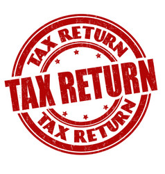 Tax return grunge rubber stamp vector