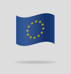 the eu flag with novel coronavirus outbreak vector image