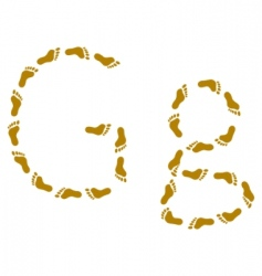 traces letter g vector image
