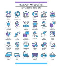 transport and logistics set 03 vector image
