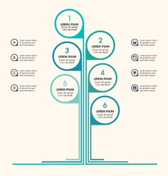 Tree infographic business icons placeholder text vector