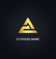 Triangle delta pyramid logo vector