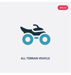 Two color all terrain vehicle icon from vector