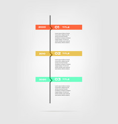 Vertical cartoon timeline steps infographics - can vector