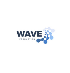 Water abstract logo lines and dots vector