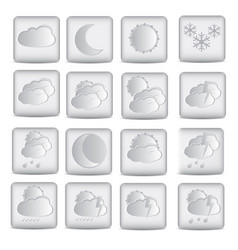 weather icons design in white color vector image